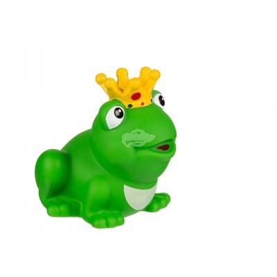 """Badeente / Quietscheente - Quietsche-Frosch mit Krone """"King"""""""