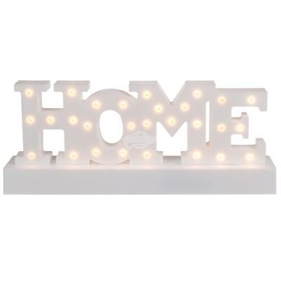 """Beleuchteter Schriftzug """"Home"""""""