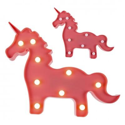 Pinkfarbenes Einhorn mit LED