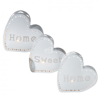 "Teelichthalter ""Home Sweet Home"" 3tlg Set"