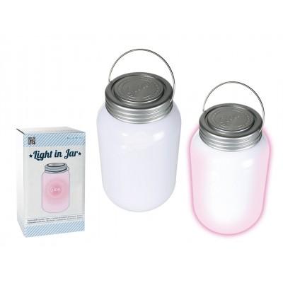 """Lampe Einmachglas mit 3 farbwechselndes LED """"Light in Jar"""""""