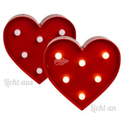 Leuchte im Herz Design mit LED