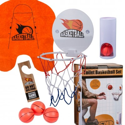 Toiletten-Basketball-Set, 7-teilig