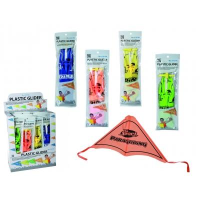 Plastic Glider - Gleiter mit Gummikatapult - verschiedene Farben