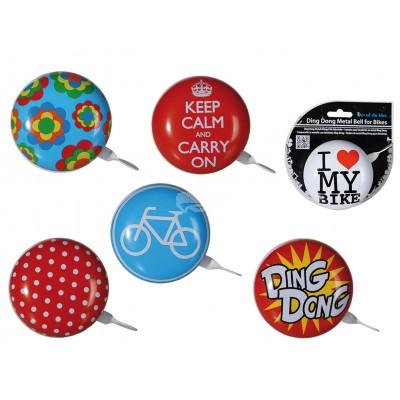 """Fahrradklingel """"Ding Dong"""" - versch. Motive"""