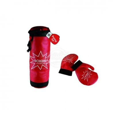 Boxsack mit Boxhandschuhen