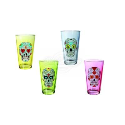 "Trinkglas ""Skull"" - versch. Farben"