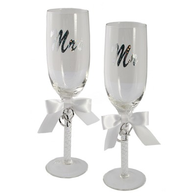 "Sektglas ""Mr. & Mrs."" - 2er Set"