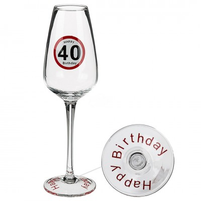 Sektglas Happy Birthday 40.