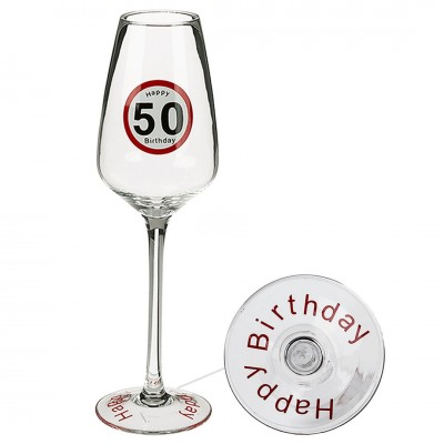 Sektglas Happy Birthday 50.