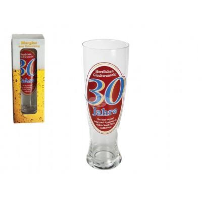 """Weizenbierglas """"Herzlichen Glückwunsch"""" - """"30"""""""