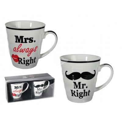 Tassen Mr. Right & Mrs. Always Right 2tlg Set