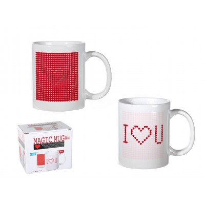 "Tasse mit Thermofolie ""I Love you"""
