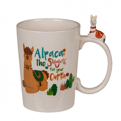 "Becher mit Lama-Griff ""Alpaca - the sugar for your cuppa"""