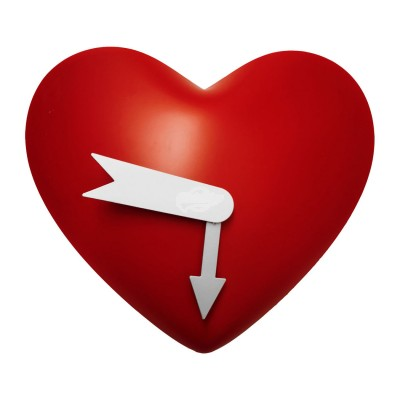 """Wanduhr """"Herz"""" Liebe Love Hearth Partner Verliebt"""