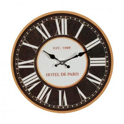 """Wanduhr """"Hotel De Paris"""" Küchenuhr Glas Wohnzimmer Design Frankreich"""