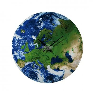 """Wanduhr """"Earth"""" Modern Uhr Planet Erde Groß Geschenk für Männer und Frauen"""