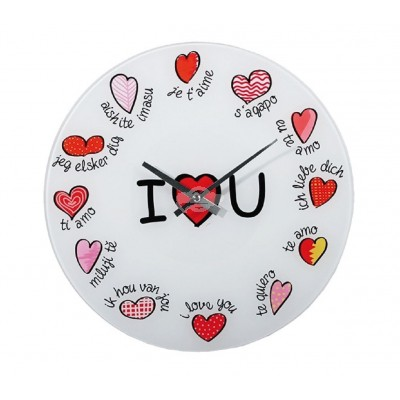 "Wanduhr ""I Love You"""