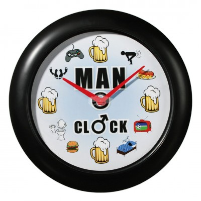 "Wanduhr mit Sound ""Man Clock"""