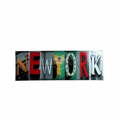New York Wandbild mit Uhr