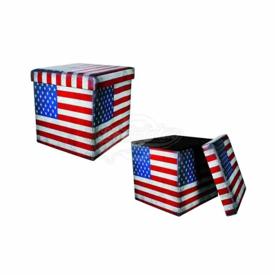 "Hocker ""Vintage Look"" - Stars & Stripes"