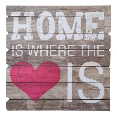 Dekoschild ''Home is where the heart is''