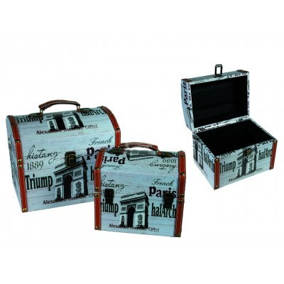 "Koffer Vintage Look ""Paris"" 2er Set"