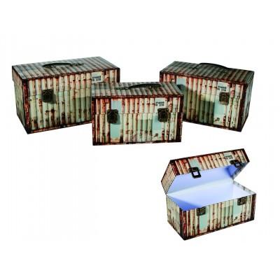 """Aufbewahrungsbox """"Container"""" 3er Set - beige"""