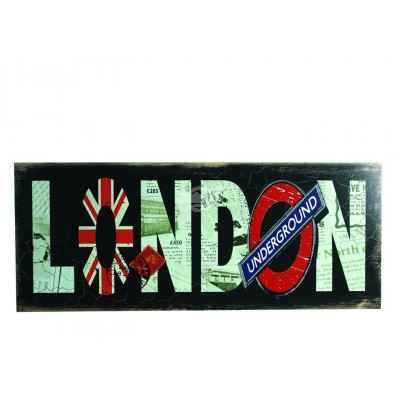 "Holzschild ""London"" Vintage Look"