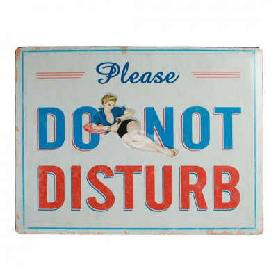"Blechschild Nostalgie ""Do not disturb"""