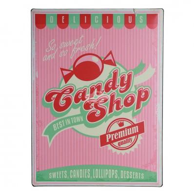 """Blechschild Nostalgie """"Candy Shop"""""""