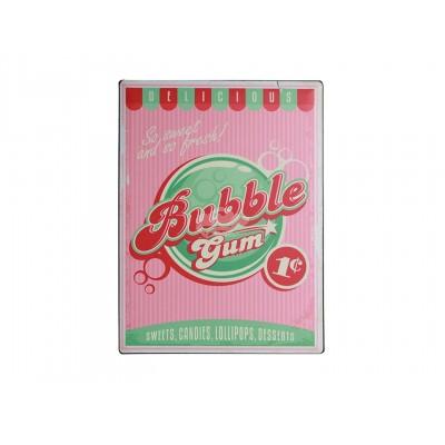 "Blechschild Nostalgie ""Bubble Gum"""