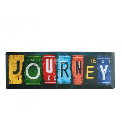 "Blechschild Nostalgie ""Journey"""