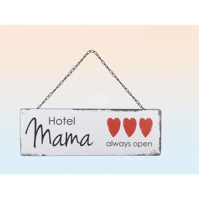 "Metall-Schild im Vintage Look ""Hotel Mama"