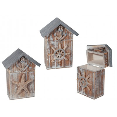 """Holzbox """"Standhaus"""" - versch. Designs"""