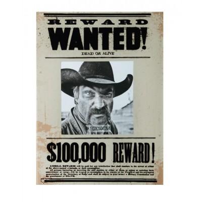 """Bilderrahmen """"Wanted"""" Deko Wohnaccessoires Geschenk Western Geschenkidee"""