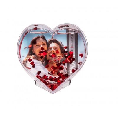 Herz Bilderrahmen mit Glitzerherzen