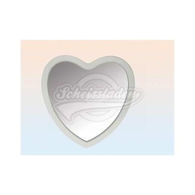 Wandspiegel Herz 60 x 60 - weiß