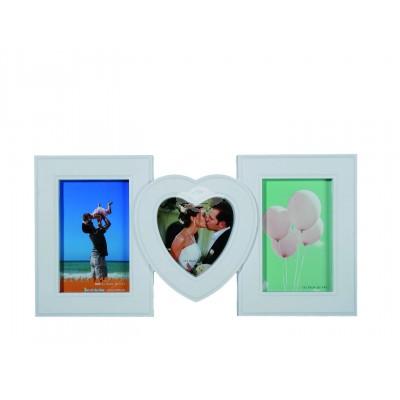 Bilderrahmen Used Square & Heart - für 3 Bilder
