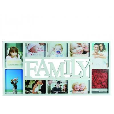 """Bilderrahmen """"Family"""" für 10 Fotos - weiß"""