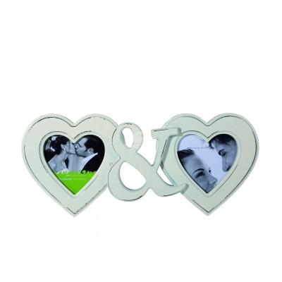 Bilderrahmen Heart & Heart - für 2 Bilder