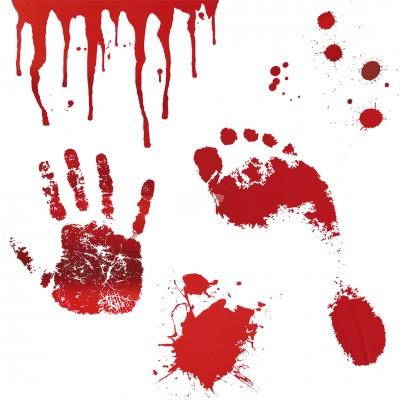 Sticker f. Boden und Wand ''Blutbad'' - versch. Motive