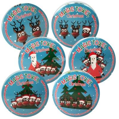 """Magisches Baumwollhandtuch """"Christmas"""" versch. Designs"""