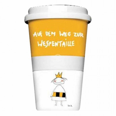 "Thermobecher - Coffee to Go Becher ""Wespentaille"""