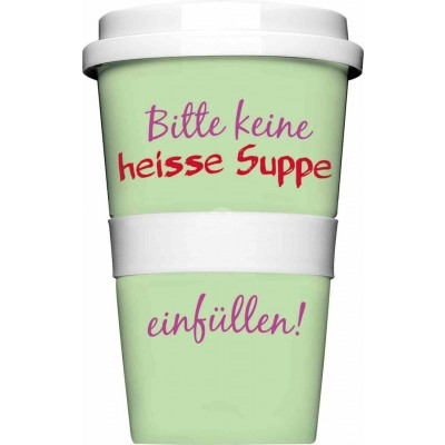 "Thermobecher - Coffee to Go Becher ""Heiße Suppe"""