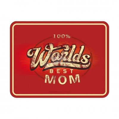 "Magnet ""100% Worlds best Mom"""