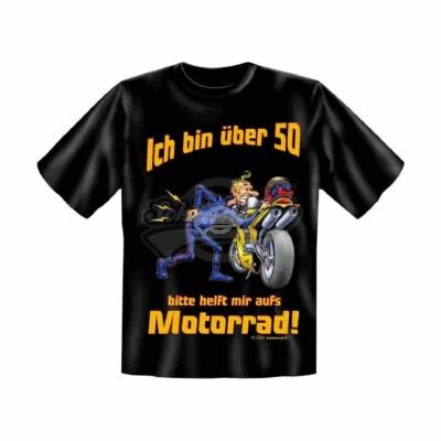 "T-Shirt ""Biker - Motorrad 50 - Größe XL"