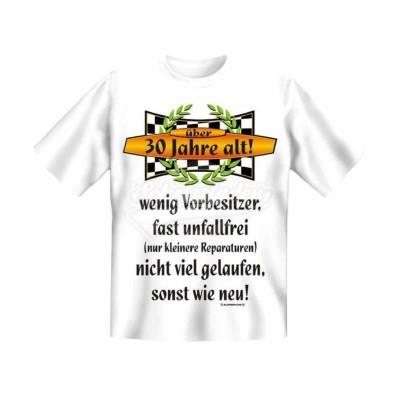 """T-Shirt """"Vorbesitzer 30"""" - Größe L"""
