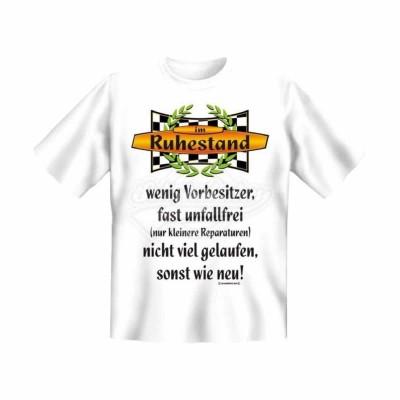"""T-Shirt """"Vorbesitzer Ruhestand"""" Rente - Größe L"""