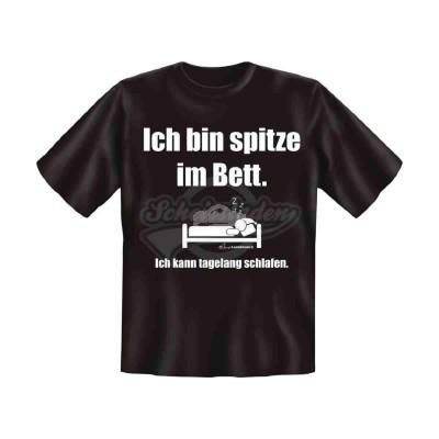 """T-Shirt """"Ich bin spitze im Bett"""" - versch. Größen"""